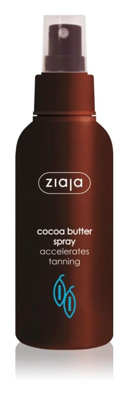 Ziaja Cocoa Butter telový sprej pre urýchlenie opálenia