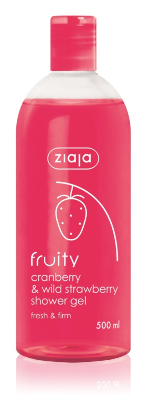 Ziaja Fruity Cranberry & Wild Strawberry gel de dus hidratant