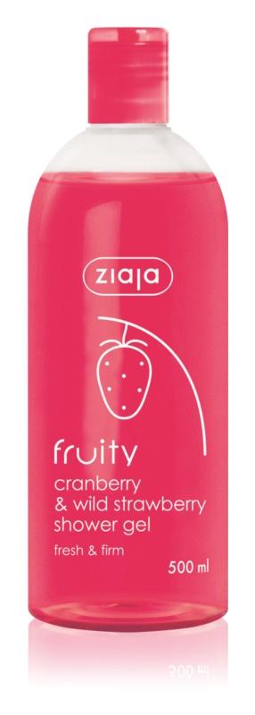 Ziaja Fruity Cranberry & Wild Strawberry hydratační sprchový gel
