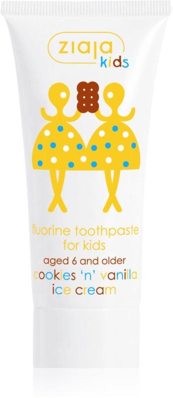 Ziaja Kids Cookies 'n' Vanilla Ice Cream pasta do zębów dla dzieci