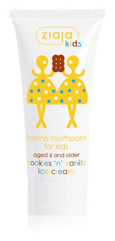 Ziaja Kids Cookies 'n' Vanilla Ice Cream Tandpasta  voor Kinderen