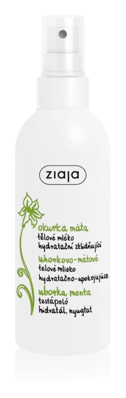 Ziaja Cucumber tělové mléko ve spreji