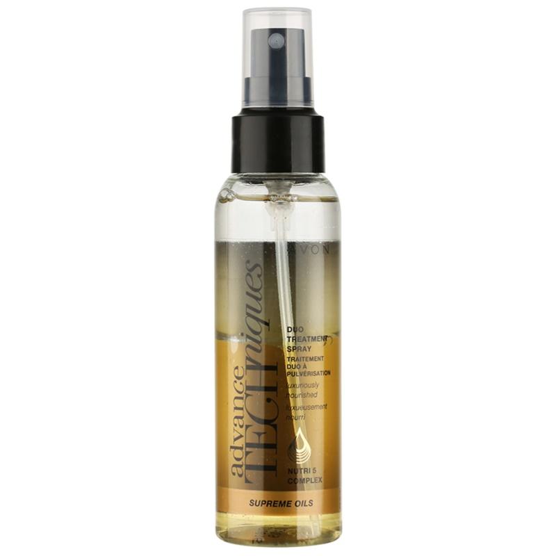 Avon Advance Techniques Supreme Oils spray intens hranitor cu ulei de lux pentru toate tipurile de păr 100 ml thumbnail