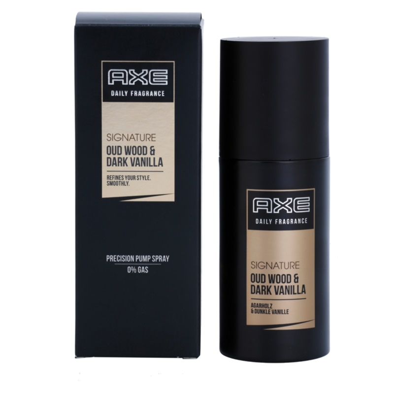 Axe Signature Oud Wood and Dark Vanilla Body Spray  voor Mannen 100 ml