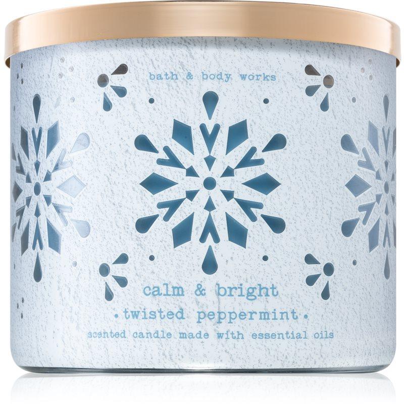 Bath & Body Works Twisted Peppermint vela perfumada 411 g