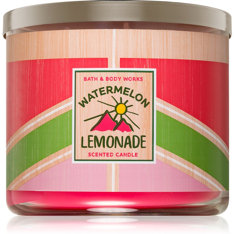 Bath & Body Works Watermelon Lemonade lumânare parfumată I. 411 g thumbnail