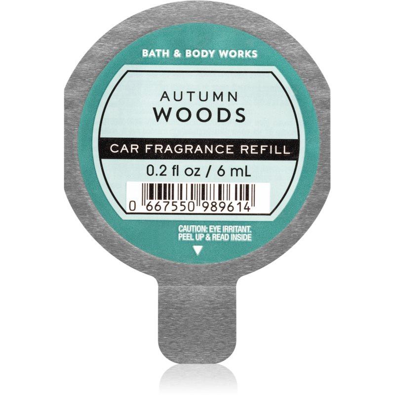 Bath & Body Works Autumn Woods vůně do auta náhradní náplň 6 ml