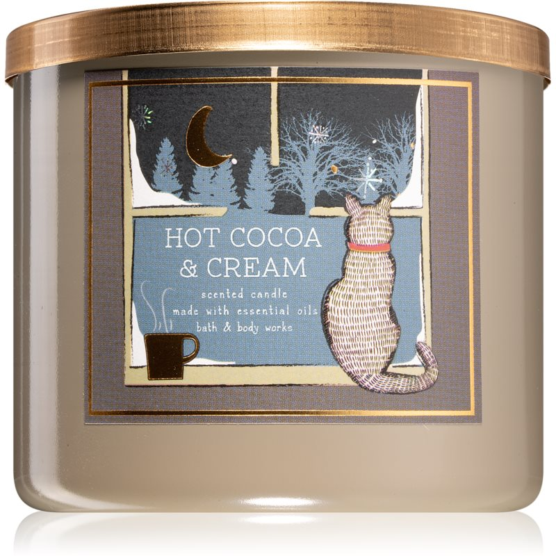 Bath & Body Works Hot Cocoa & Cream vonná svíčka IV. 411 g