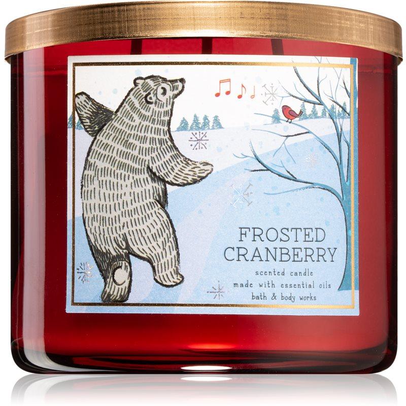 Bath & Body Works Frosted Cranberry vonná svíčka III. 411 g