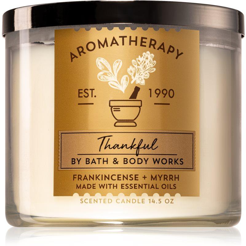 Bath & Body Works Frankincense + Myrrh vonná svíčka (Thankful) 411 g