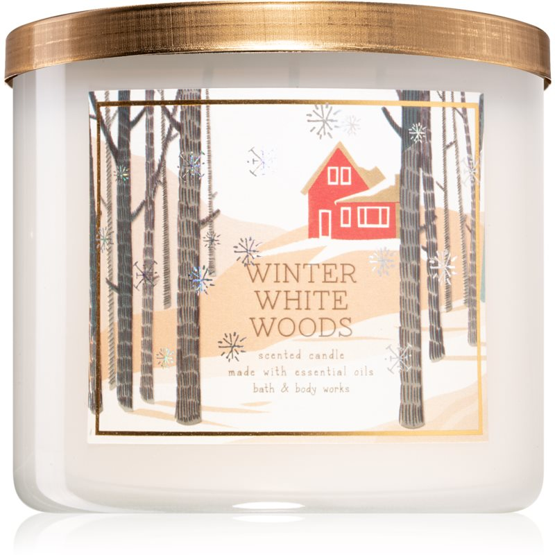 Bath & Body Works Winter White Woods vonná svíčka 411 g