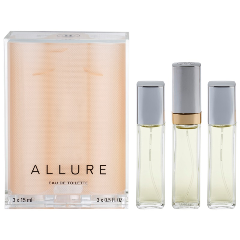 Chanel Allure eau de toilette (1x reincarcabil + 2x rezerva) pentru femei 45 ml thumbnail