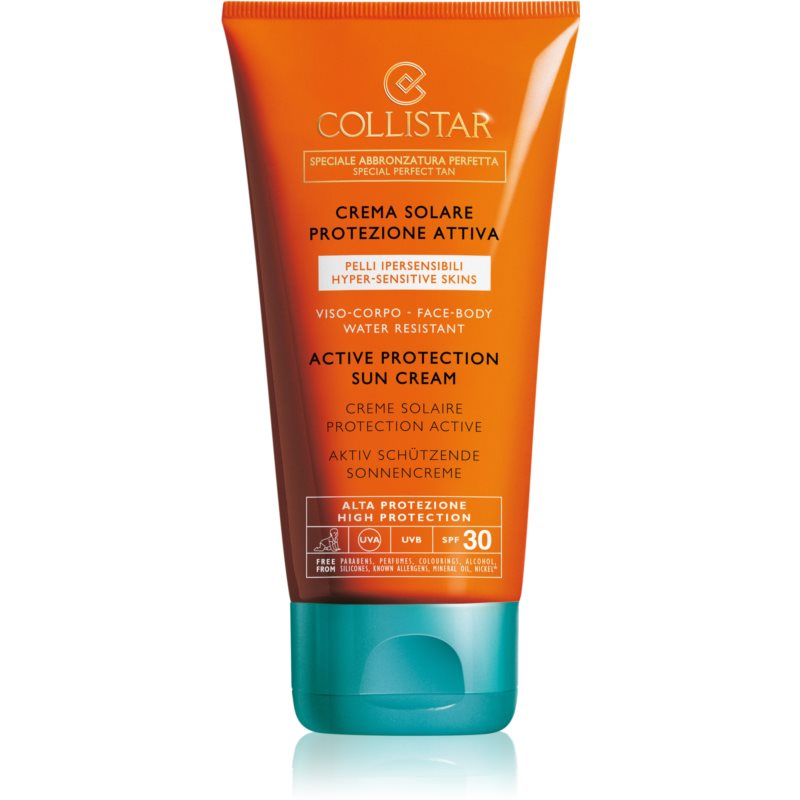 Collistar Special Perfect Tan Active Protection Sun Cream Protetor solar à prova de água SPF 30 150 ml
