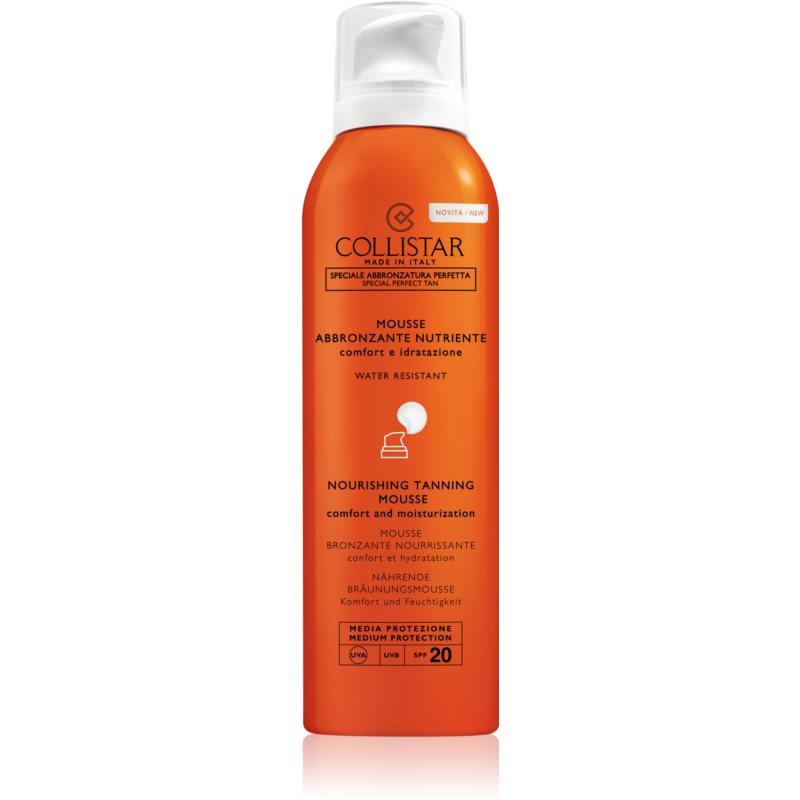 Collistar Special Perfect Tan Nourishing Tanning Mousse espuma bronzeadora para rosto e corpo SPF 20 200 ml