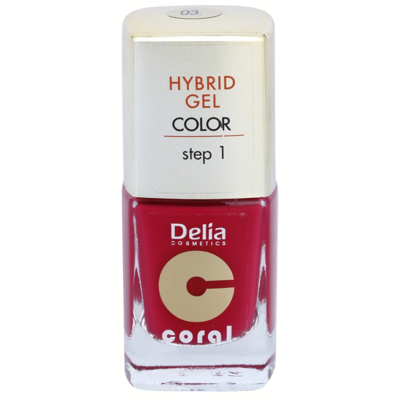 Delia Cosmetics Coral Nail Enamel Hybrid Gel гел лак за нокти цвят 03 11 мл.