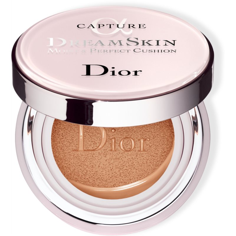 Dior Capture Dreamskin Moist  Perfect Cushion hydratačný make-up v hubke SPF 50 odtieň 025 2x15 g