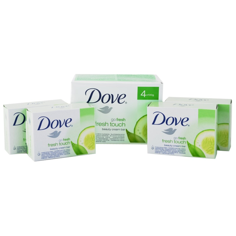Dove Go Fresh Fresh Touch tuhé mydlo 4x100 g