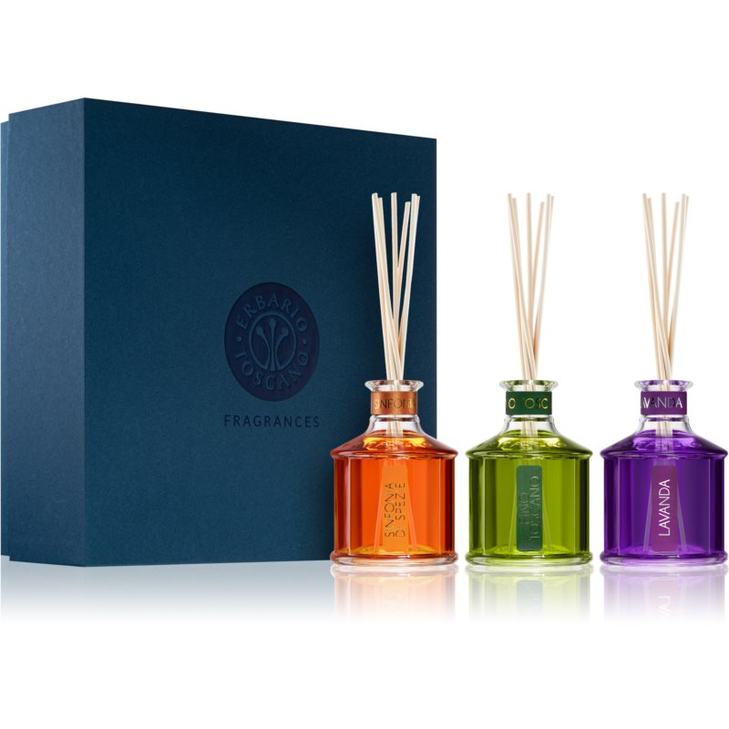 Erbario Toscano Home Fragrances aroma difuzér s náplní (dárková sada)