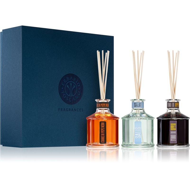 Erbario Toscano Home Fragrances aroma difuzér s náplní dárková sada II. 3 ks
