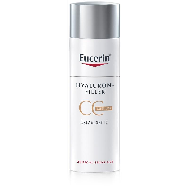 Eucerin Hyaluron-Filler CC Creme gegen tiefe Falten LSF 15
