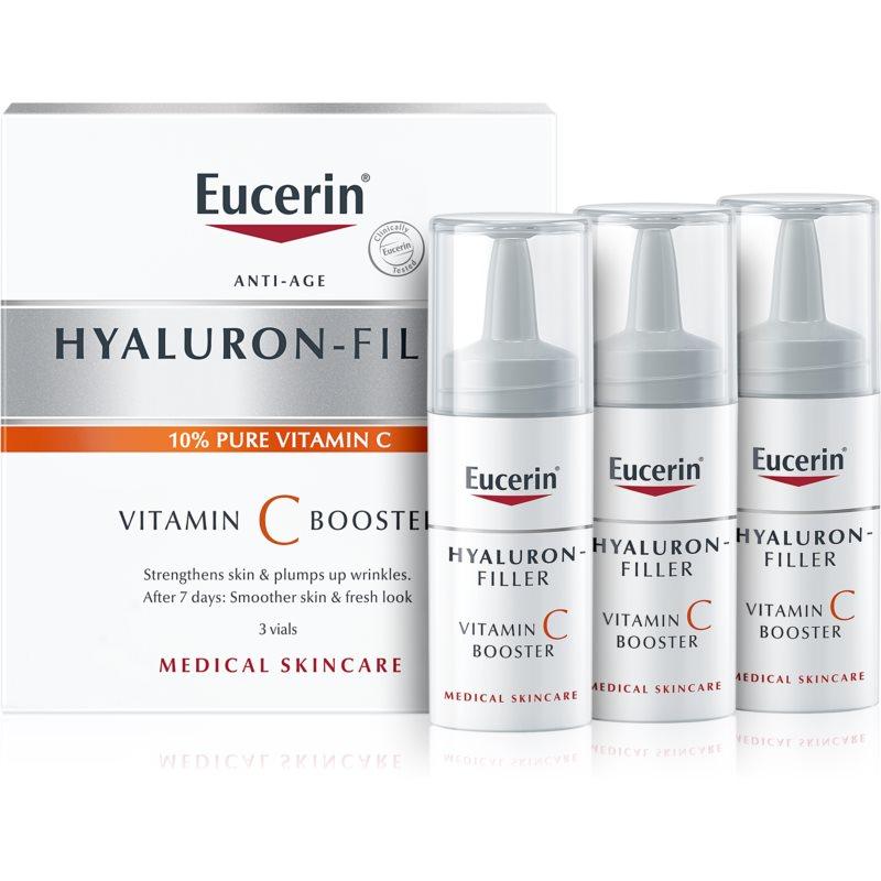 Eucerin Hyaluron-Filler Vitamin C Booster озаряващ серум против бръчки с витамин С 3x8 мл.