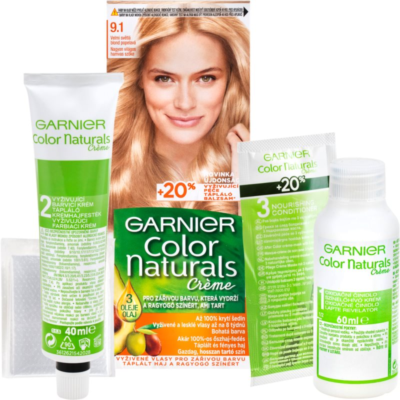 Garnier Color Naturals Creme hajfesték árnyalat 9.1 Natural Extra Light Ash Blond