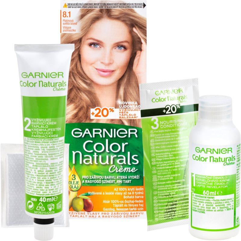 Garnier Color Naturals Creme hajfesték árnyalat 8.1 Natural Light Ash Blond