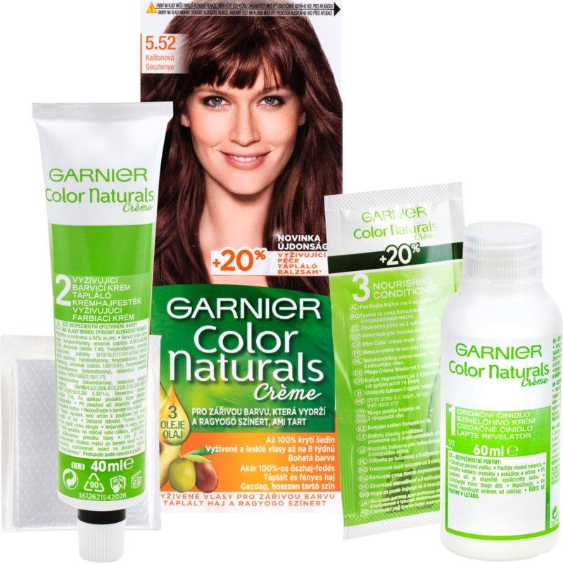 Garnier Color Naturals Creme hajfesték árnyalat 5.52 Iridescent Mahogany