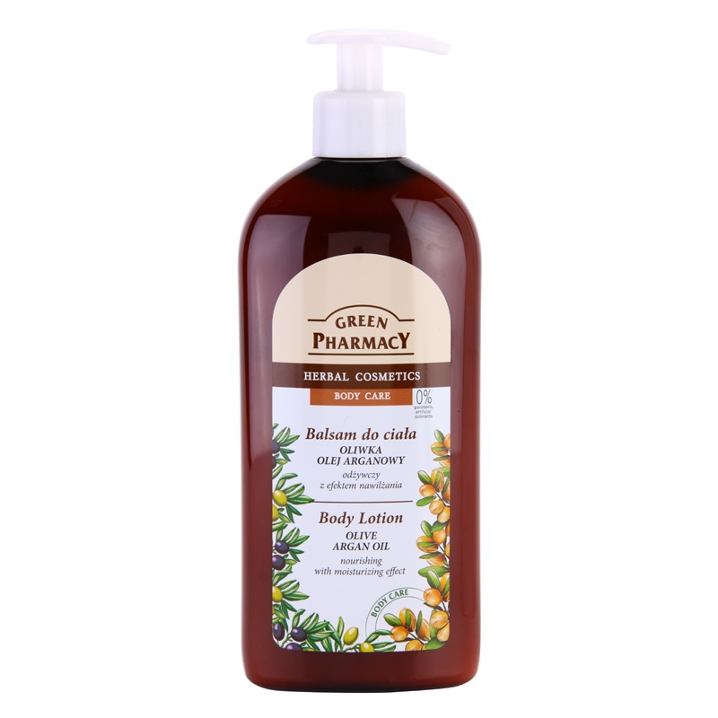 Green Pharmacy Body Care Olive & Argan Oil Nourishing Body Lotion with Moisturizing Effect 500 ml