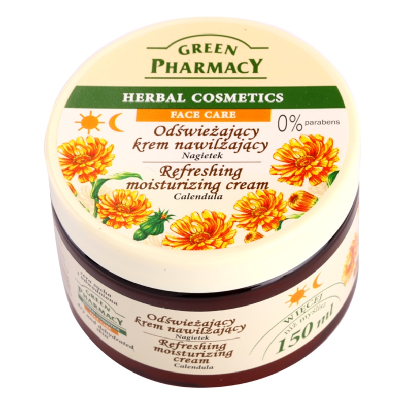 Green Pharmacy Face Care Calendula Refreshing Moisturizing Cream for Dehydrated Dry Skin 150 ml