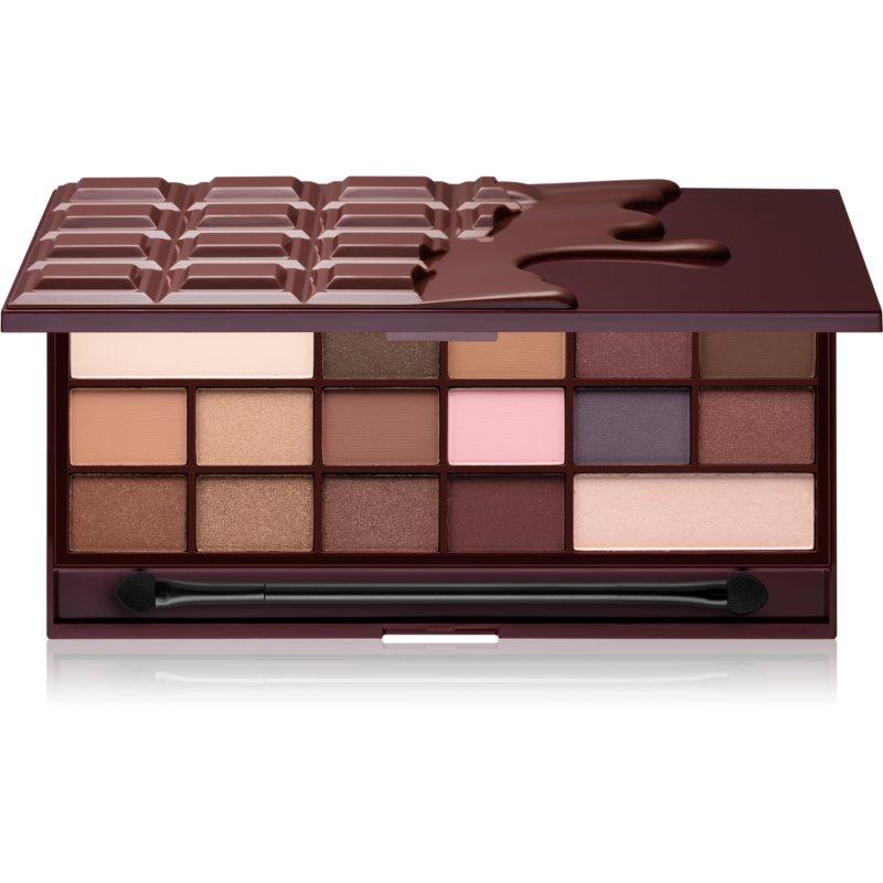I Heart Revolution Chocolate paleta de sombras de ojos tono I Heart Chocolate  22 g