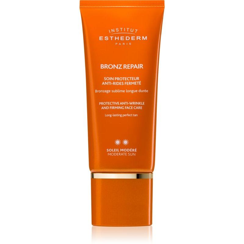 Institut Esthederm Bronz Repair creme facial reafirmante antirrugas com proteção UV média 50 ml