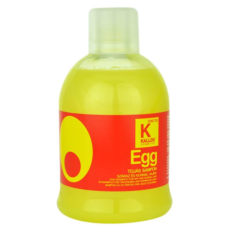 Kallos Egg tápláló sampon száraz és normál hajra