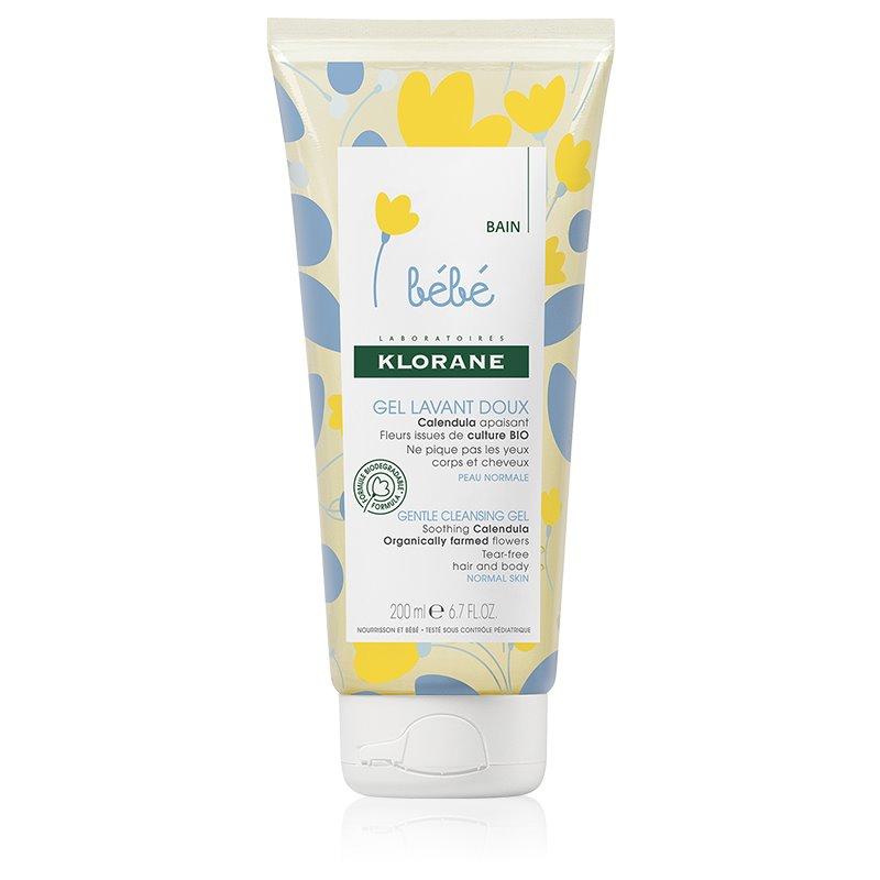 Klorane Bébé Calendula gel de limpeza suave para bebés 0+ com doseador 200 ml