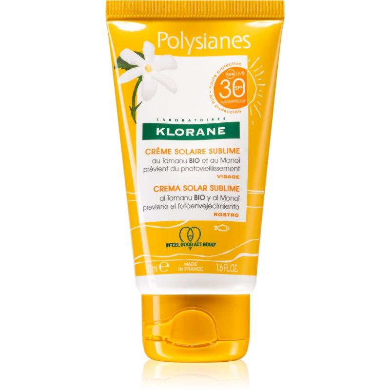 Klorane Monoï & Tamanu creme facial protetor SPF 30 50 ml
