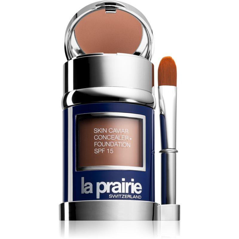 La Prairie Skin Caviar base e corretor SPF 15 tom Honey Beige (SPF 15) 30 ml