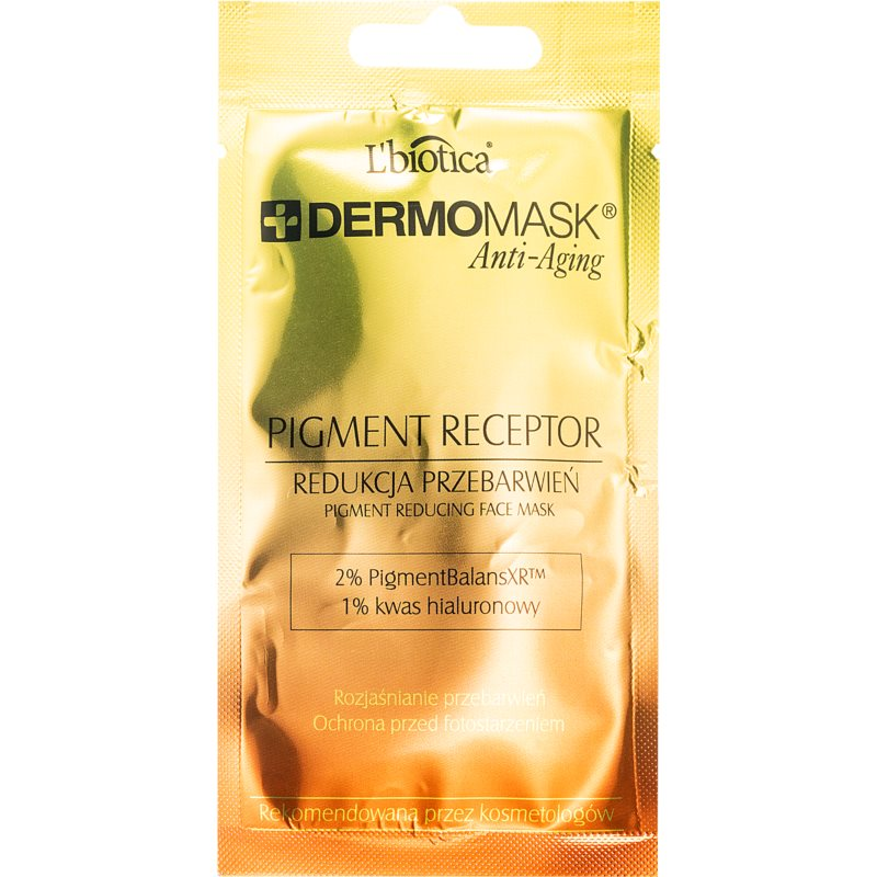 L'biotica DermoMask Anti-Aging pleťová maska na pigmentové škvrny