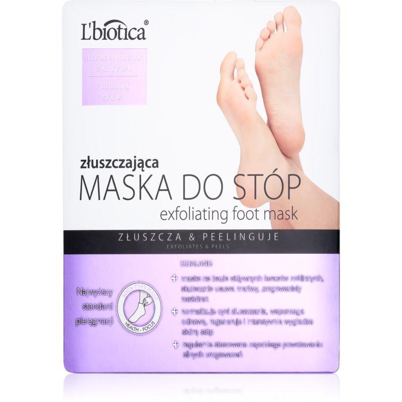 L'biotica Masks meias esfoliante para suavizar e hidratar a pele dos pés 40 ml