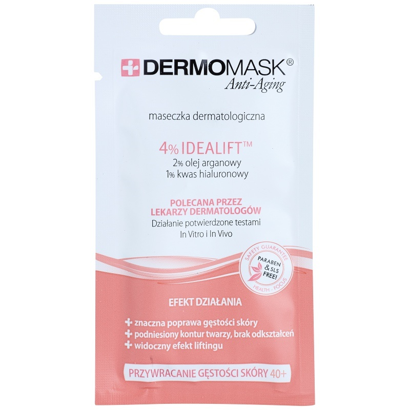 L'biotica DermoMask Anti-Aging маска за възстановяване плътността на кожата 40+ 12 мл.