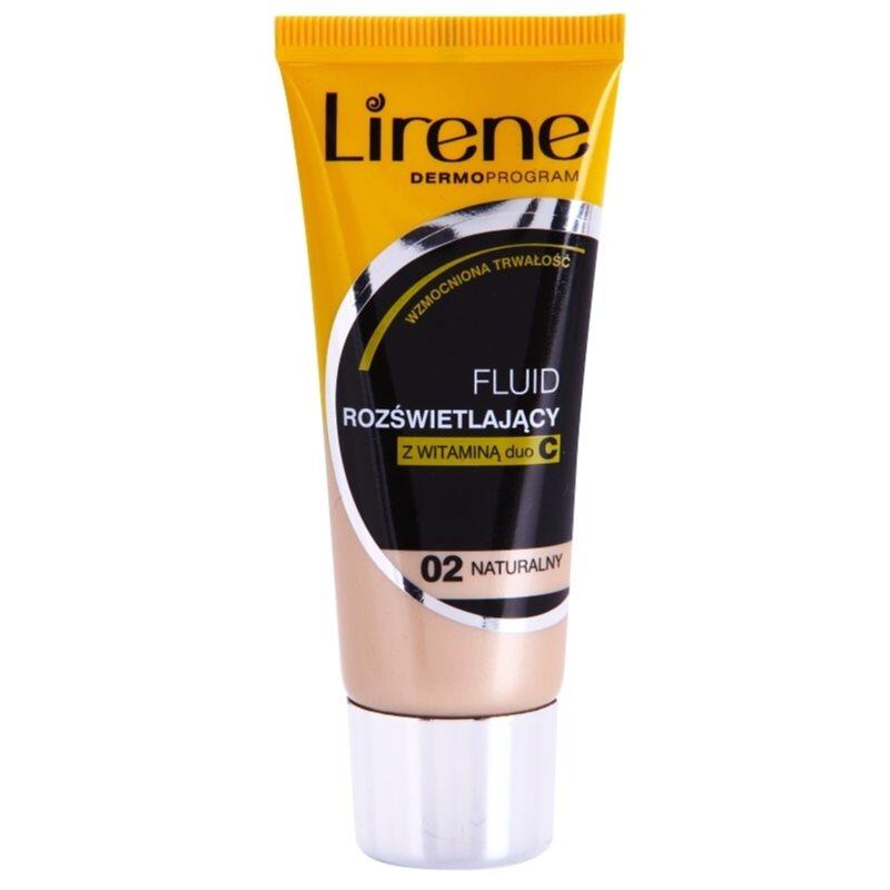 Lirene Vitamin C озаряващ флуиден фон дьо тен за дълготраен ефект цвят 02 Natural 30 мл.