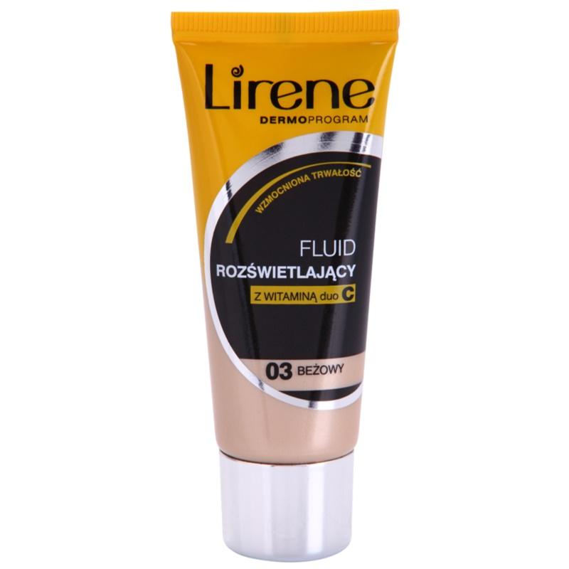 Lirene Vitamin C озаряващ флуиден фон дьо тен за дълготраен ефект цвят 03 Beige 30 мл.