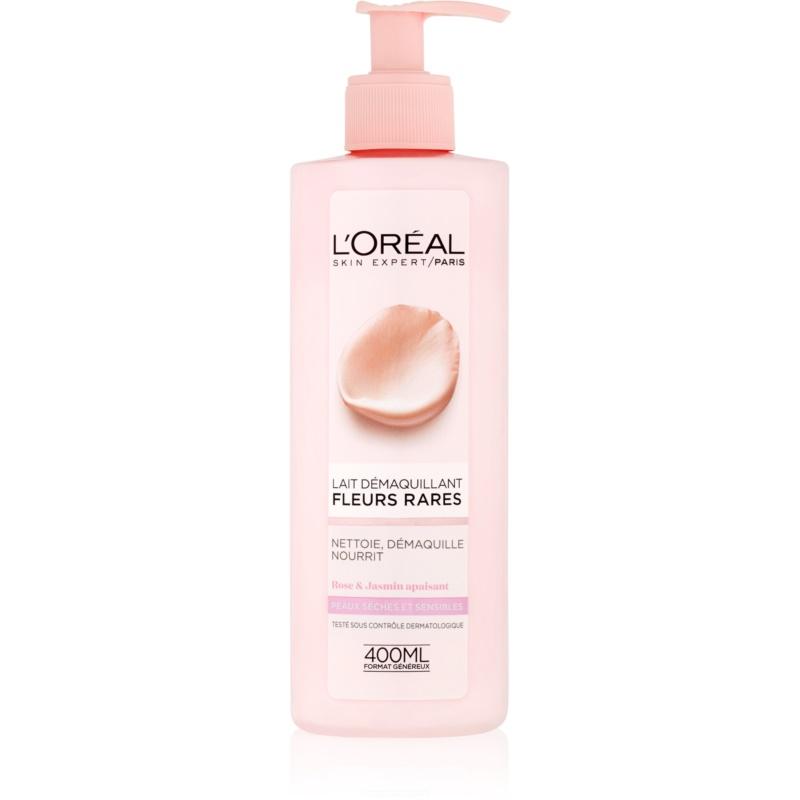 L'Oréal Paris Precious Flowers мляко за почистване на грим за суха до чувствителна кожа 400 мл.