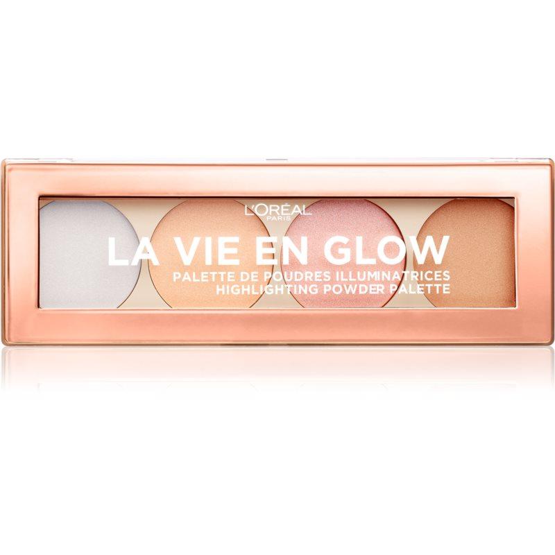 L'Oréal Paris Wake Up & Glow La Vie En Glow IIluminating Palette Shade 02 Cool Glow 5 g thumbnail
