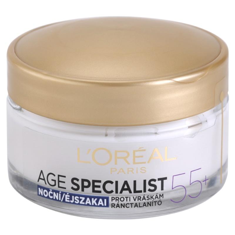 L'Oréal Paris Age Specialist 55+ crema de noapte antirid 50 ml thumbnail
