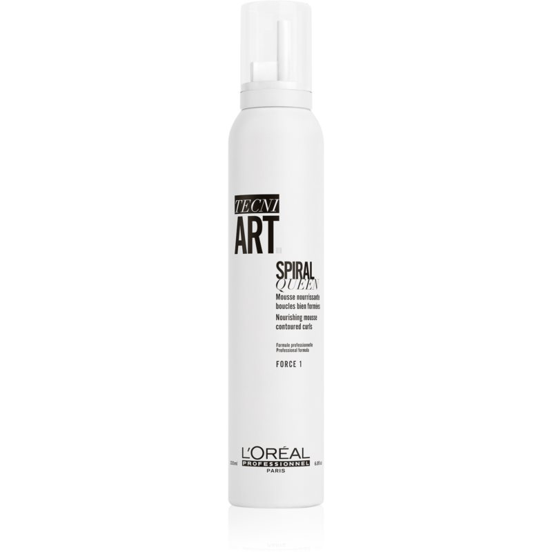 L'Oréal Professionnel Tecni.Art Spiral Queen stylingová pěna pro definici a tvar účesu pro kudrnaté vlasy 200 ml