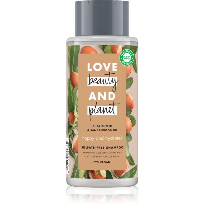 Love Beauty & Planet Happy and Hydrated szulfátmentes sampon száraz hajra 400 ml