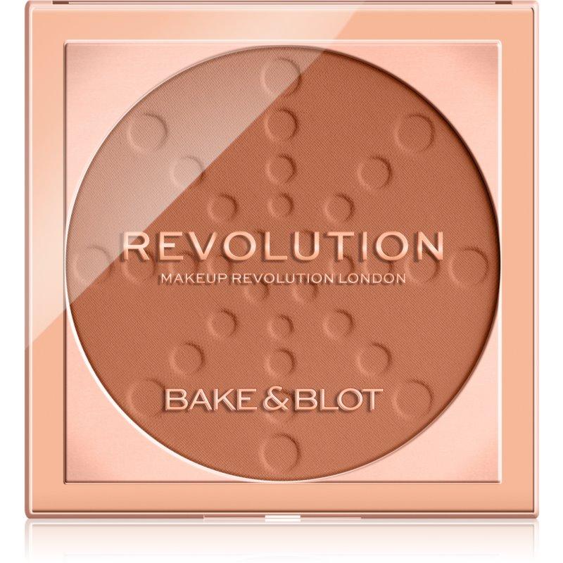 Makeup Revolution Bake & Blot pudra de fixare culoare Deep Dark 5,5 g thumbnail