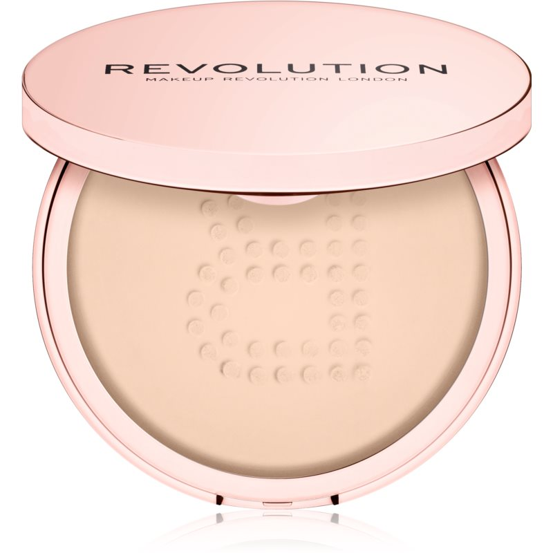 Makeup Revolution Conceal & Fix pudra pulbere transparentă rezistent la apa culoare Medium Yellow 13 g thumbnail
