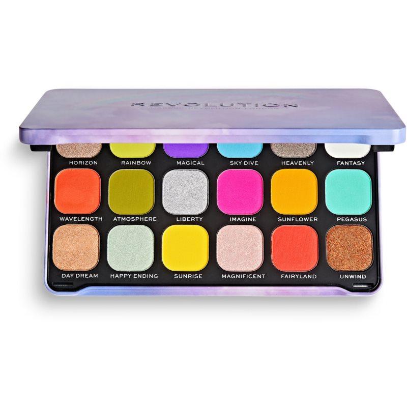 Makeup Revolution Halloween Eyeshadow Palette палетка тіней для очей відтінок Rainbow