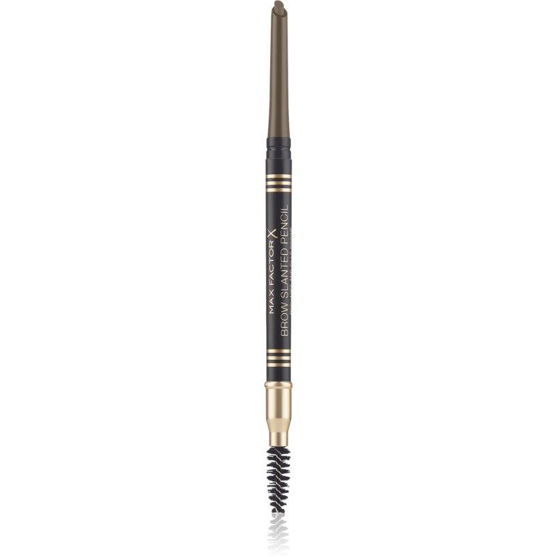 Max Factor Brow Slanted Pencil creion pentru sprancene cu pensula culoare 03 Dark Brown thumbnail